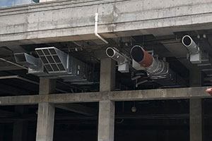 Commercial building HVAC unit