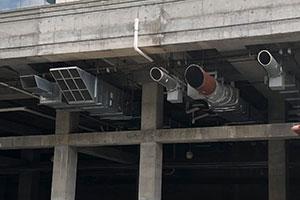 Commercial building HVAC unit
