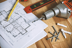 floor plan blueprint for a home remodel